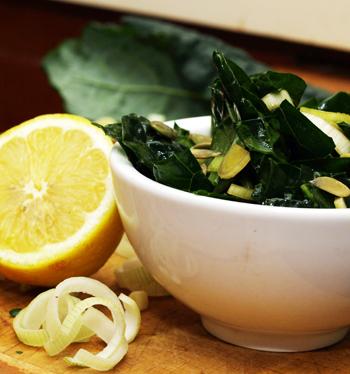 Lemon & Leek Kale Salad